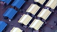 Leeds City Markets  - Aerial View - England, Leeds, United Kingdom video