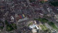 Leeds City Markets  - Aerial View - England, Leeds, United Kingdom video