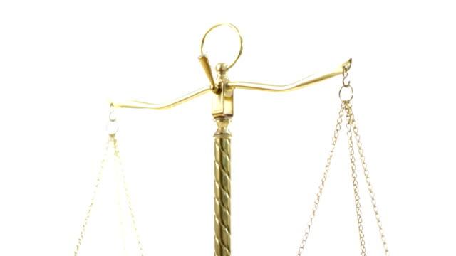 Legal scales - vertical pan downward video