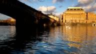 Legion bridge and National Theatre. video