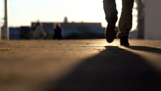 Legs at sunset video