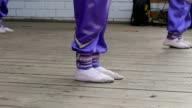 legs dancing children slow motion video video