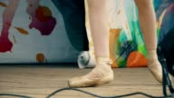 legs of a ballerina girl slow motion video video