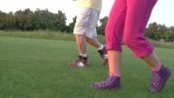 Legs of jogging couple. video