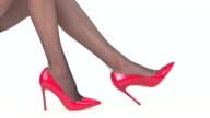 Legs wearing heels isolated. video