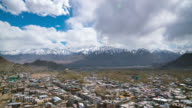 Leh city with mountain leh ladakh india video