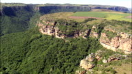 Lehr's Waterfall  - Aerial View - KwaZulu-Natal,  Ugu District Municipality,  Ezingoleni,  South Africa video