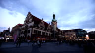 Leipzig at night, time lapse video