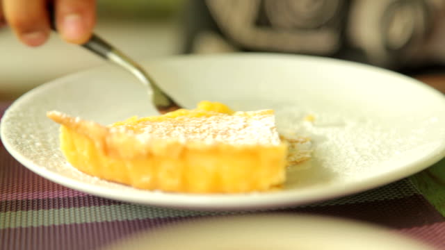 Lemon Tart Dessert in Cafe video