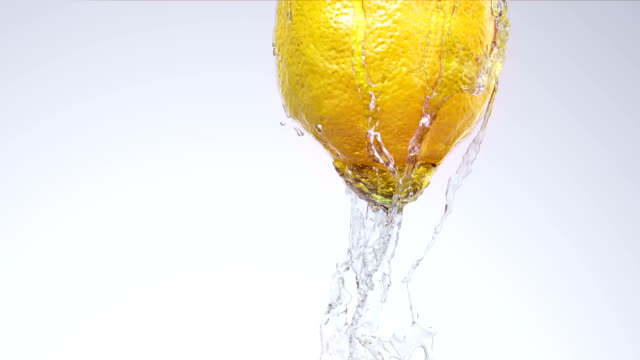 Lemon with water video