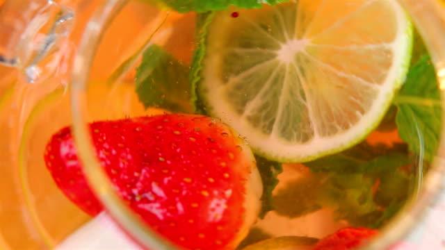 Lemonade close-up video