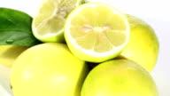 Lemons close-up SEAMLESS LOOP video