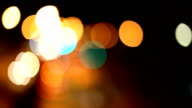 Lens Blur City and Traffic Lights video