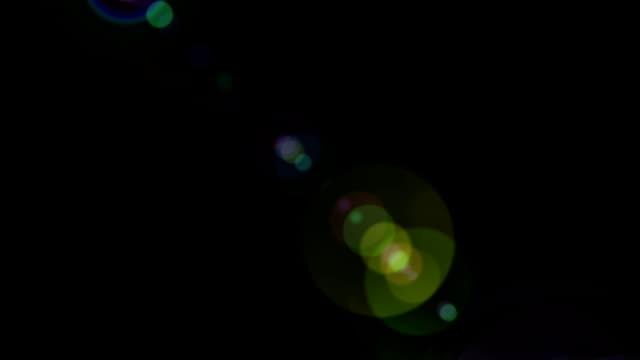 Lens Flares on Black video