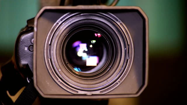 Lens of the video camera video