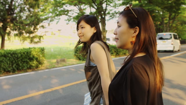 Lesbian Couple Crossing Japanese Street video