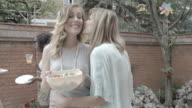 HD: Lesbian Couple Enjoy Barbecue Party. video