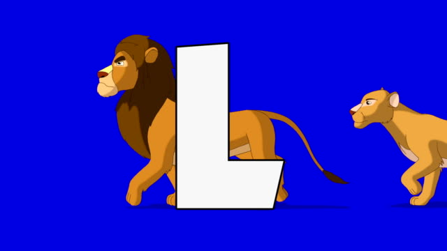 Letter L and  Lion (background) video