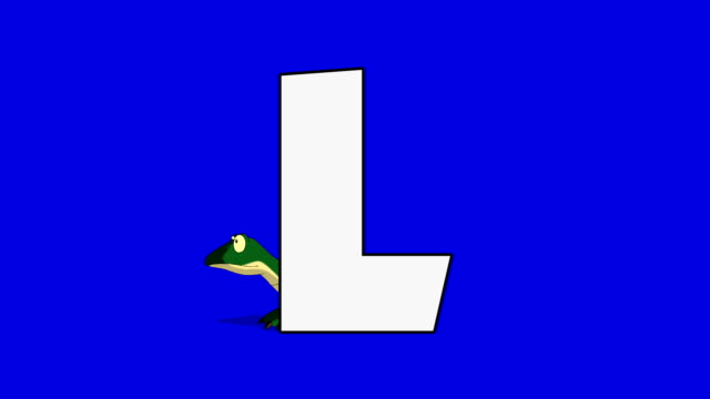 Letter L and  Lizard (background) video