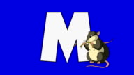 Letter M and  Mouse (foreground) video