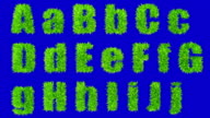 letters A thru J made with swaying grass. video