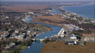 Lewes And Inner Harbour  - Aerial View - Delaware,  Sussex County,  United States video