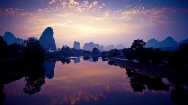 Li river in the Morning video