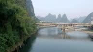 Li River Karst Mountain Landscape in Yangshuo video