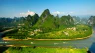 Li river's golden waterway video