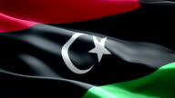 Libya national flag. (New surge and lighting effect) video