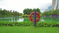 Life Buoy installed near the lake video
