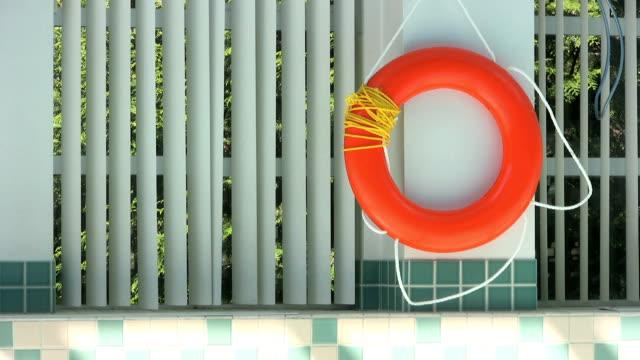 Life Saving Ring At Poolside (HD 1080p30) video
