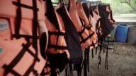 Life vest on clothes line video