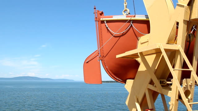 Lifeboat and rudder. video