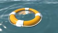 Lifebuoy at sea video