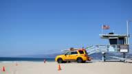 Lifeguard house on Venice beach video