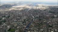 Liffey River To Dublin Harbour  - Aerial View - helicopter filming,  aerial video,  cineflex,  establishing shot,  Ireland video