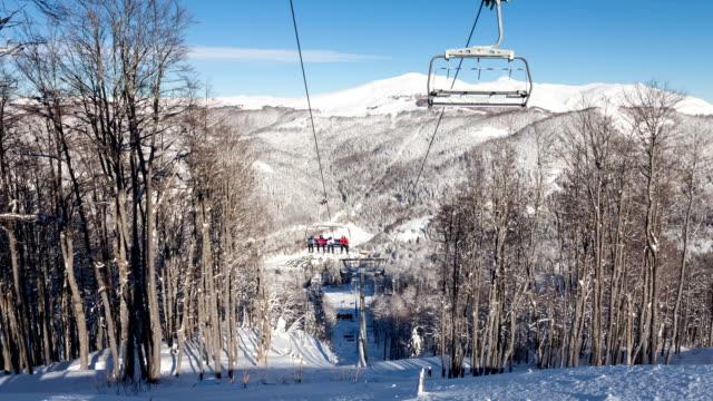 lift in ski resort video