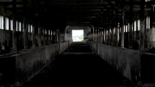 Light at End of Tunnel Abandoned Building Hope Concept Background video