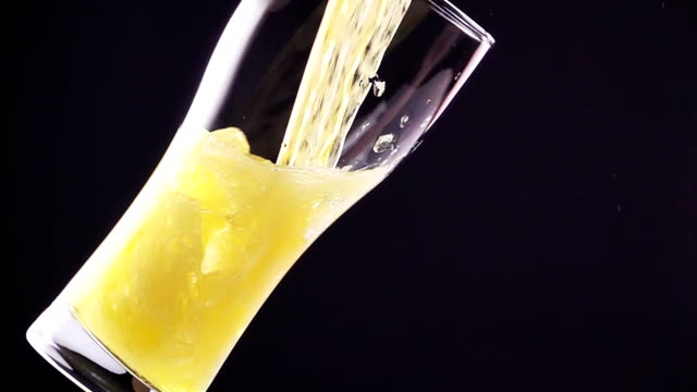 Light Beer is Poured into the Glass video