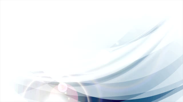 Light blue abstract flowing waves video animation video
