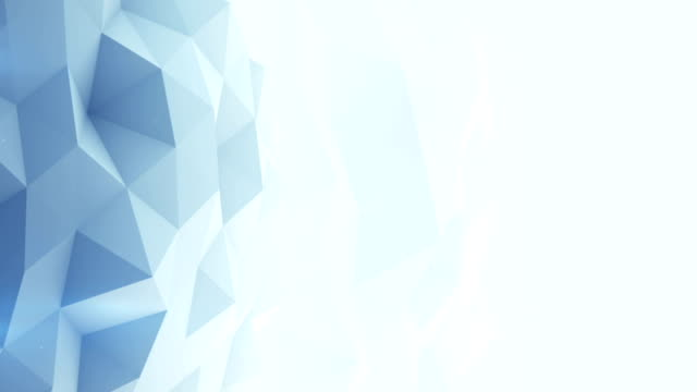 Light blue polygonal background seamles loop 3D render video