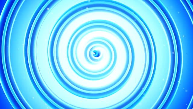 Light blue spiral shape spinning seamless loop 3D animation video