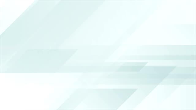 Light blue tech abstract geometric video animation video