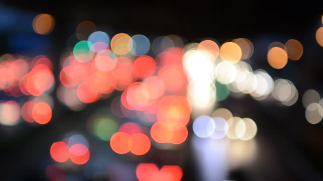 Light bokeh movement video