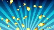 Light bulb background video