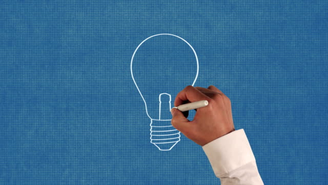 Light Bulb Blueprint Animation video