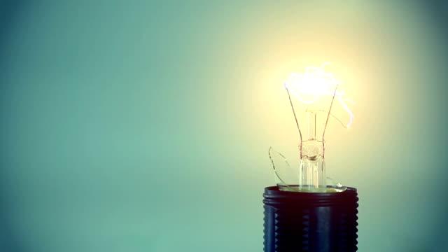 Light bulb & electric arc video