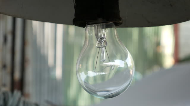 Light bulb turning on video