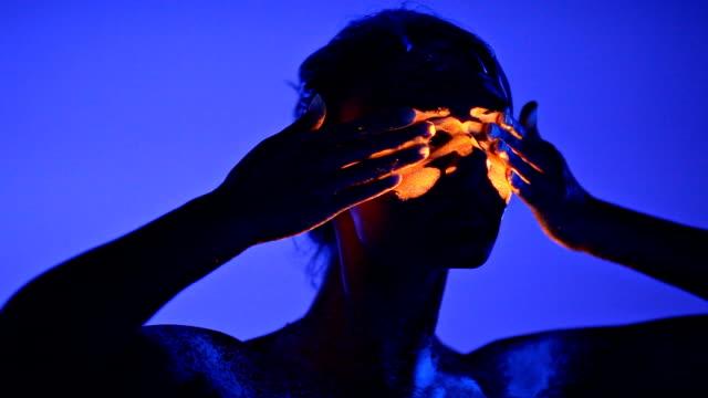 UV light creative portrait video